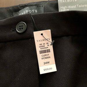 Talbots NWT black dress pants